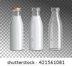 transparent glass bottles.... | Shutterstock .eps vector #421561081
