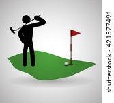 golf design. sport icon.... | Shutterstock .eps vector #421577491