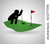 golf design. sport icon.... | Shutterstock .eps vector #421577545