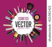 makeup cosmetics tools...   Shutterstock .eps vector #421581421