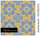 seamless stylish tile pattern | Shutterstock .eps vector #421581541