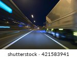 truck driving on highway at... | Shutterstock . vector #421583941