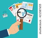 human resources design. people... | Shutterstock .eps vector #421587655