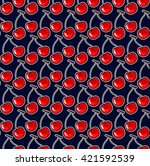 seamless pattern with cherries. ...