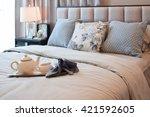 elegant bedroom interior design ... | Shutterstock . vector #421592605