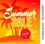 summer sale template banner | Shutterstock .eps vector #421593091
