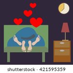 two people having sex in the... | Shutterstock .eps vector #421595359