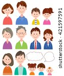 family set | Shutterstock .eps vector #421597591