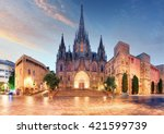 Gothic Barcelona Cathedral At...