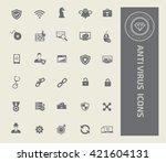 anti virus computer icon set... | Shutterstock .eps vector #421604131