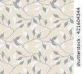 leaves seamless pattern   Shutterstock .eps vector #421604344