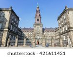 christianborg palace front view ... | Shutterstock . vector #421611421