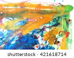 abstract paint background... | Shutterstock . vector #421618714