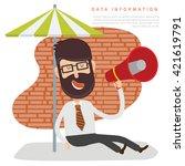 businessman employee concept...   Shutterstock .eps vector #421619791