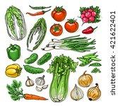 doodle vector illustration of... | Shutterstock .eps vector #421622401