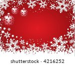 winter background   vector   Shutterstock .eps vector #4216252