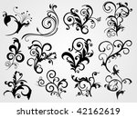 set of tattoos with abstract... | Shutterstock .eps vector #42162619