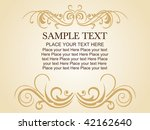 vector floral gold frame with... | Shutterstock .eps vector #42162640