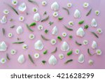 colourful bright pattern made... | Shutterstock . vector #421628299