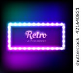 glowing neon frame with... | Shutterstock .eps vector #421640821