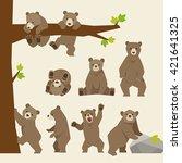 baby bear vector illustration   Shutterstock .eps vector #421641325