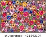 grunge hippies background... | Shutterstock .eps vector #421643104