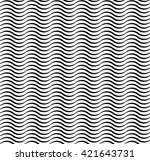 thick linear waves | Shutterstock . vector #421643731