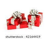 Christmas Gifts Isolated On...