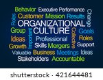 organizational culture word... | Shutterstock . vector #421644481
