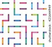 seamless pattern geometrical... | Shutterstock .eps vector #421644949