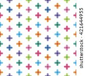 seamless pattern from  crosses | Shutterstock .eps vector #421644955