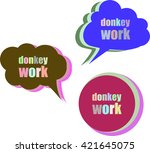 donkey work. set of stickers ... | Shutterstock .eps vector #421645075