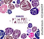 vector simple seamless pattern... | Shutterstock .eps vector #421646059