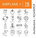 airplane icon set.  | Shutterstock .eps vector #421650919