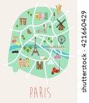 paris illustration map | Shutterstock .eps vector #421660429