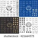 luxury and crest logo element... | Shutterstock .eps vector #421664575