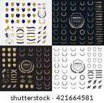 luxury and crest logo element... | Shutterstock .eps vector #421664581