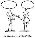 communication between two... | Shutterstock . vector #421668574