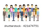 asian business casual people... | Shutterstock .eps vector #421674751