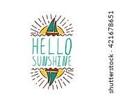 hand sketched summer element... | Shutterstock .eps vector #421678651