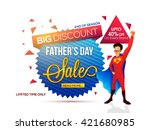 father's day sale  end of... | Shutterstock .eps vector #421680985