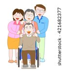 the family who cares for the... | Shutterstock .eps vector #421682377