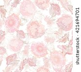 Romantic Soft Vector Floral...