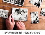 fathers day composition. black... | Shutterstock . vector #421694791