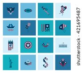4th of july  independence day... | Shutterstock . vector #421695487
