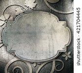 steel metal plate background | Shutterstock . vector #421704445