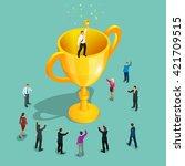 winner business concept.... | Shutterstock .eps vector #421709515
