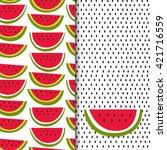 set of seamless vector patterns ... | Shutterstock .eps vector #421716559