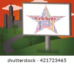 celebrity star showing... | Shutterstock . vector #421723465