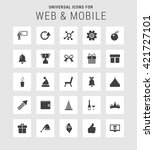 25 universal web and mobile... | Shutterstock .eps vector #421727101